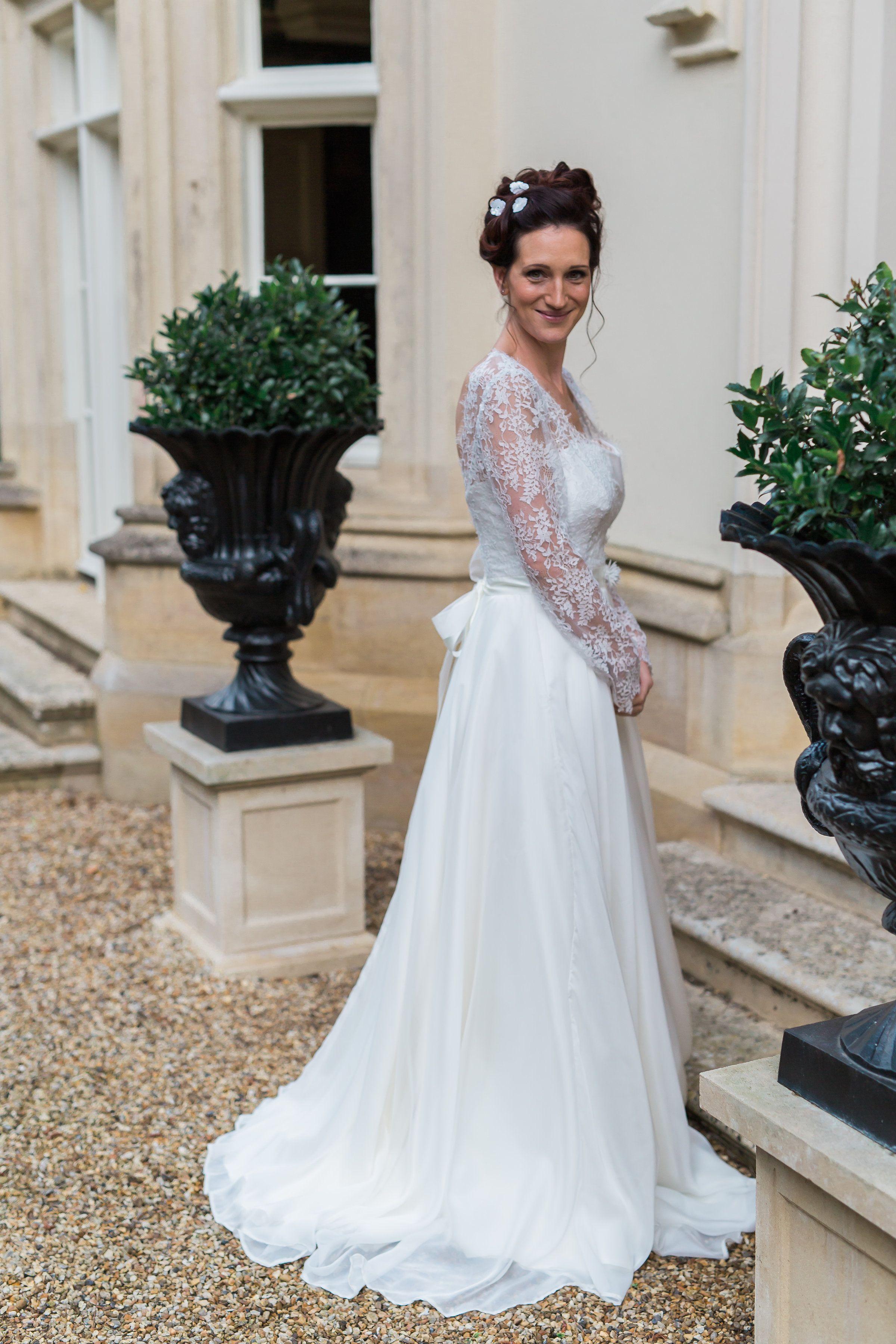 Gale wedding dress by Rachel Lamb Design. Ivory silk chiffon skirts ...