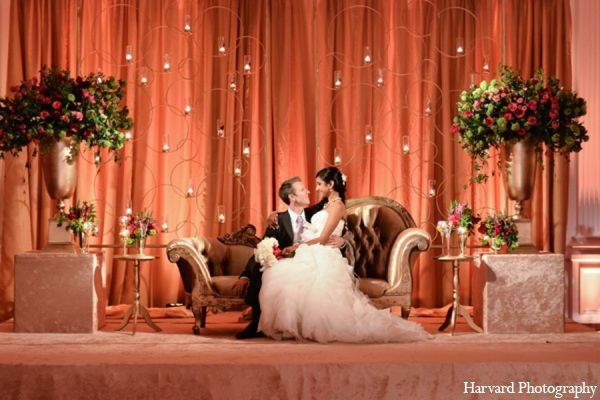 Indian Wedding Reception Floral Maharaniweddings Gallery Photo