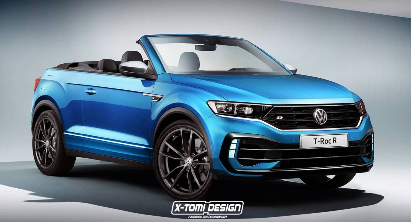 Would A 300 Ps Vw T Roc R Cabriolet Tickle Your Fancy Renderings Suv Vw Vwt Roc Cabriolets Volkswagen Range Rover Evoque Convertible