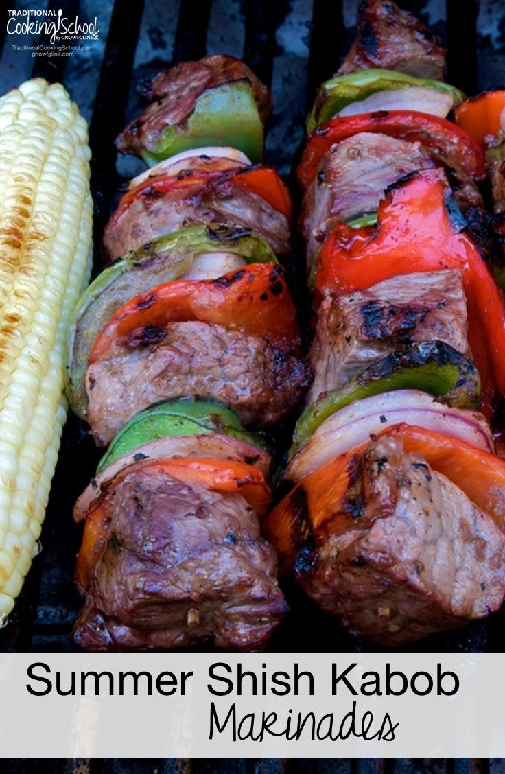 Our Summer Shish Kabob Marinades #chickenkabobmarinade
