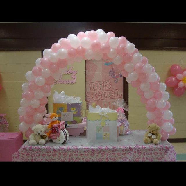 Balloon arch baby shower crafts and stuff pinterest for Balloon art for baby shower