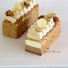 Tarta Dulcey Blond con Mousseline de Chocolate y Ganache de Mascarpone