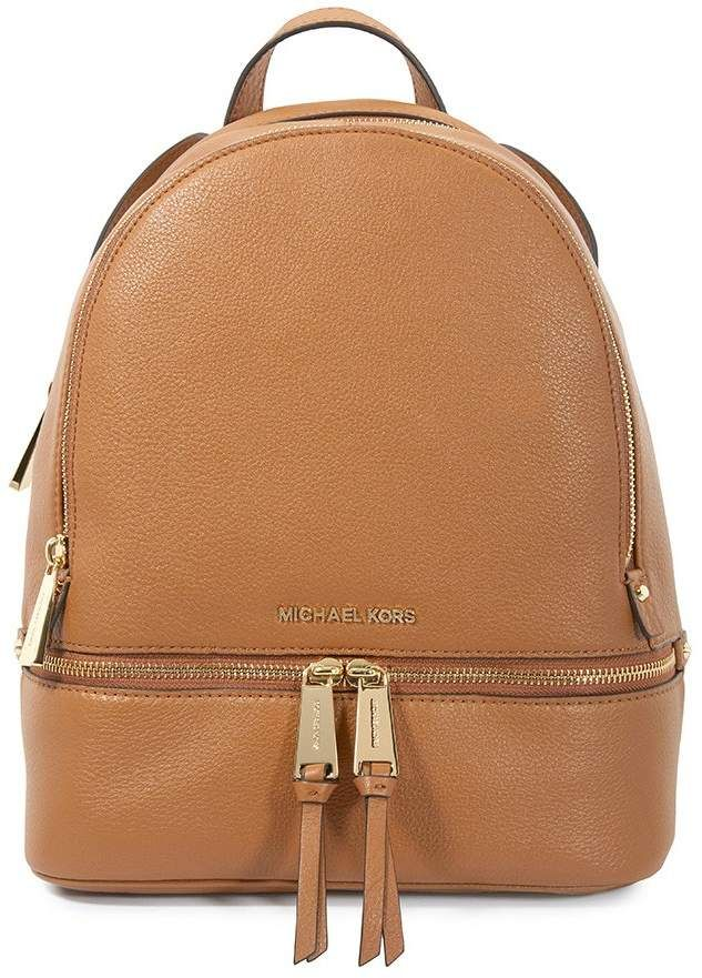 9f02146825ce5 Michael Kors Rhea Medium Leather Backpack - Acorn