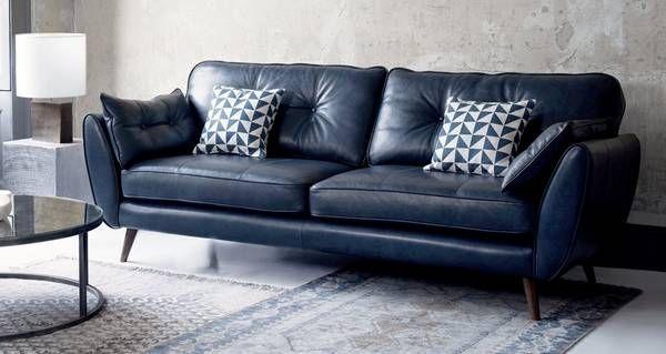 Zinc Leather 4 Seater Sofa Dfs Best Leather Sofa Sofa