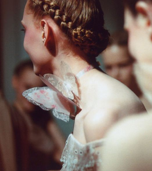 Frida Gustavsson backstage at Valentino Haute Couture Spring 2011