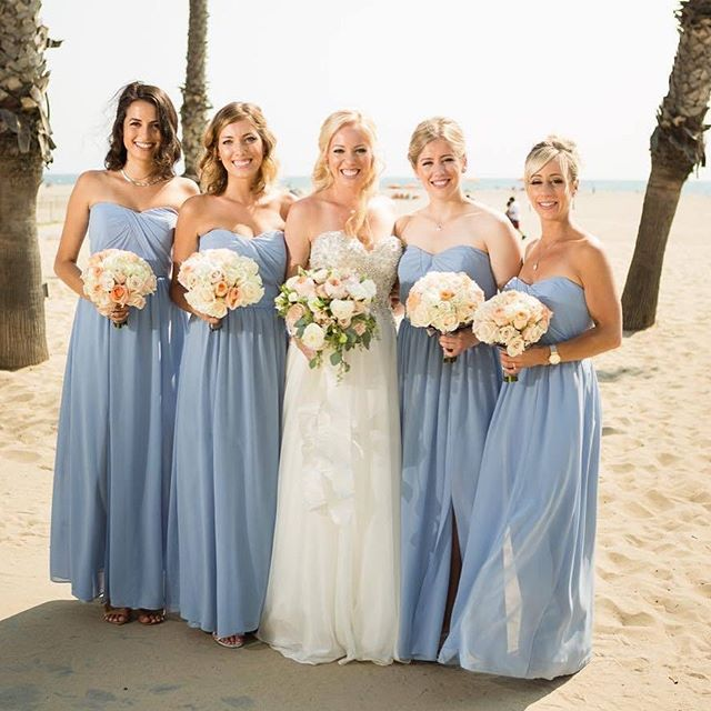 d10eb49e96834 Bare shoulders on the beach under the sun. A dream wedding destination!  Style: 8159 in