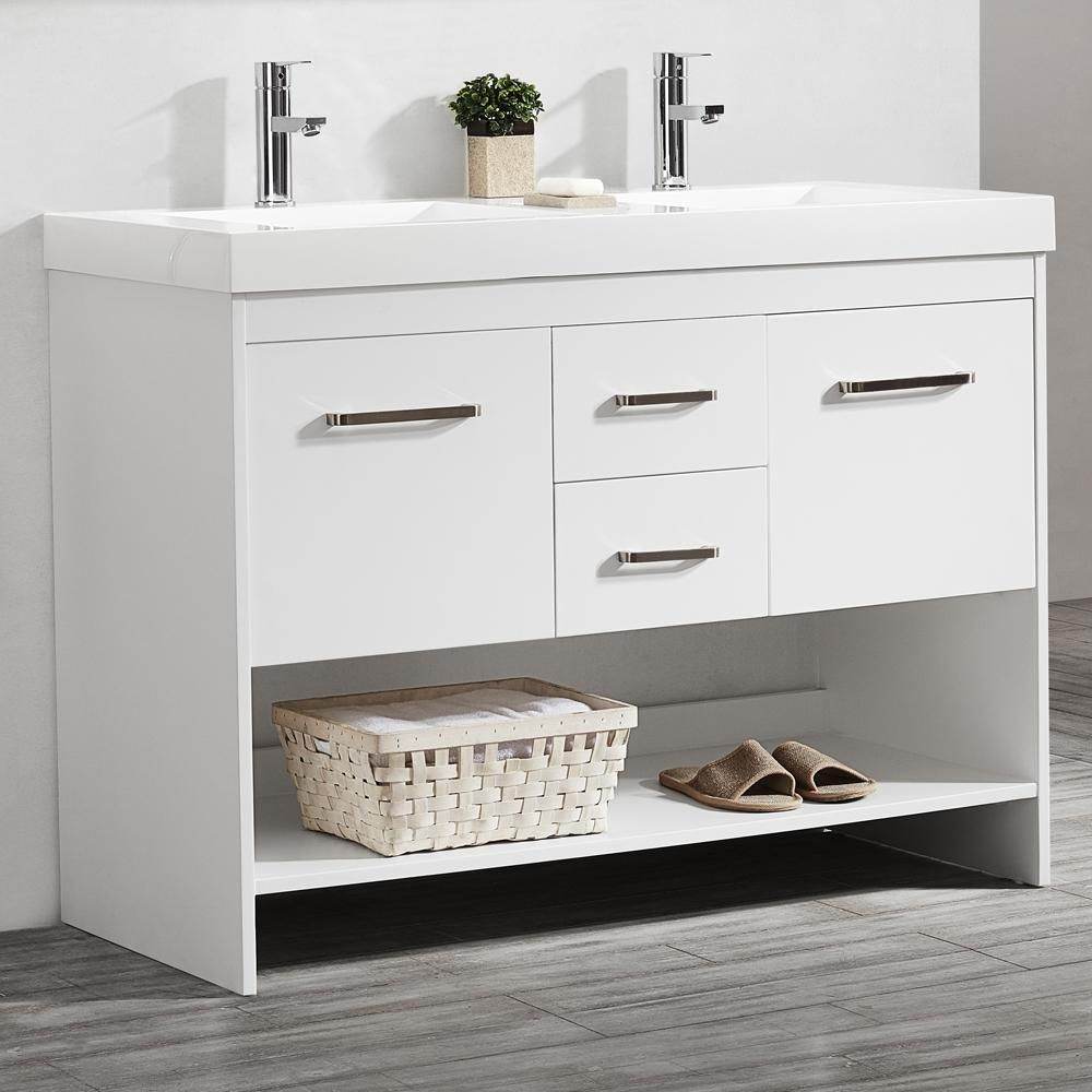 siena 48 in w x 21 in d vanity in white with acrylic on home depot vanity id=74992