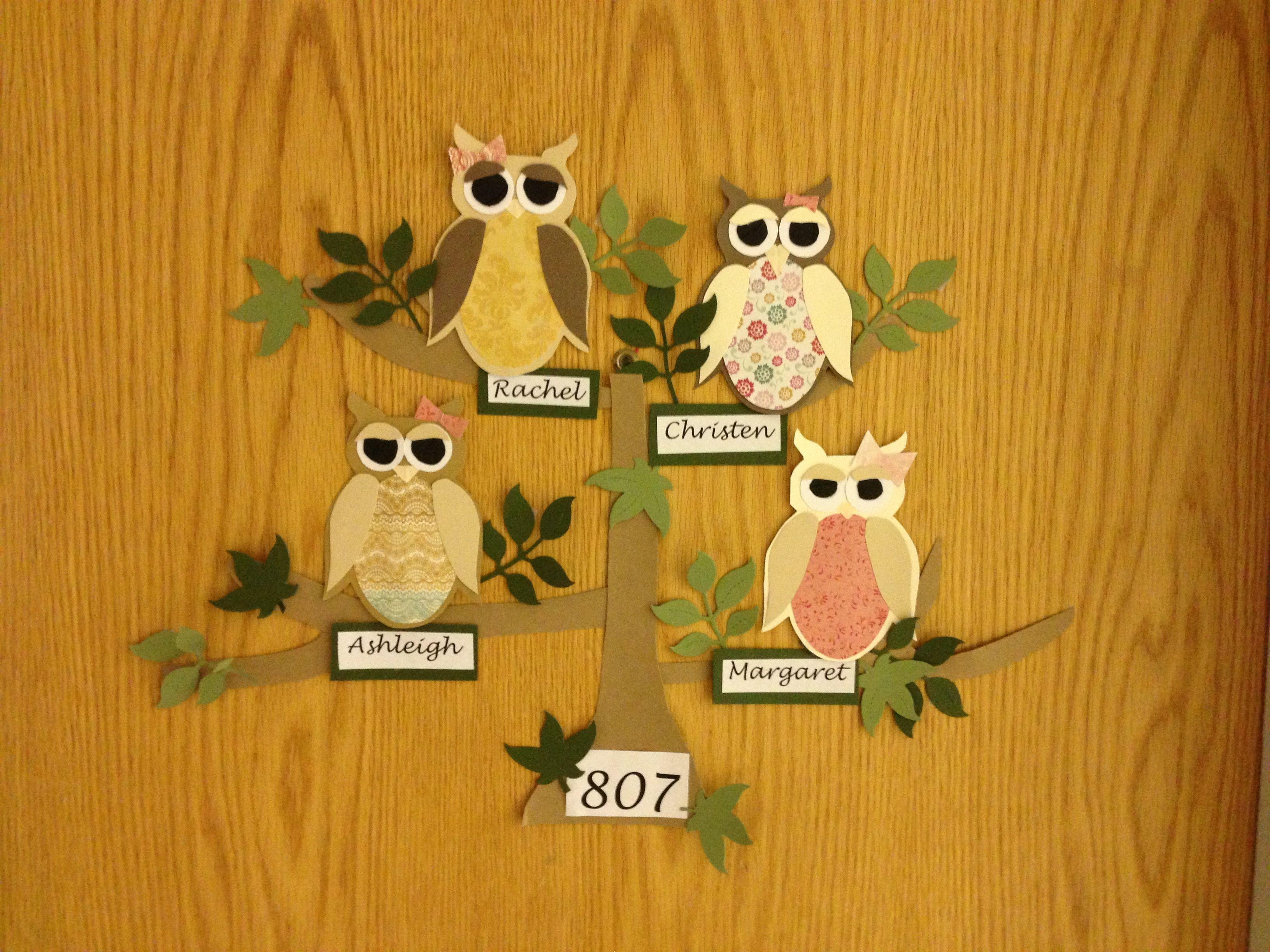Pin by Holly Tyler on RA ideas   Pinterest   Owl, Door ...
