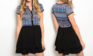 Geometric Print Casual Fall Dresses