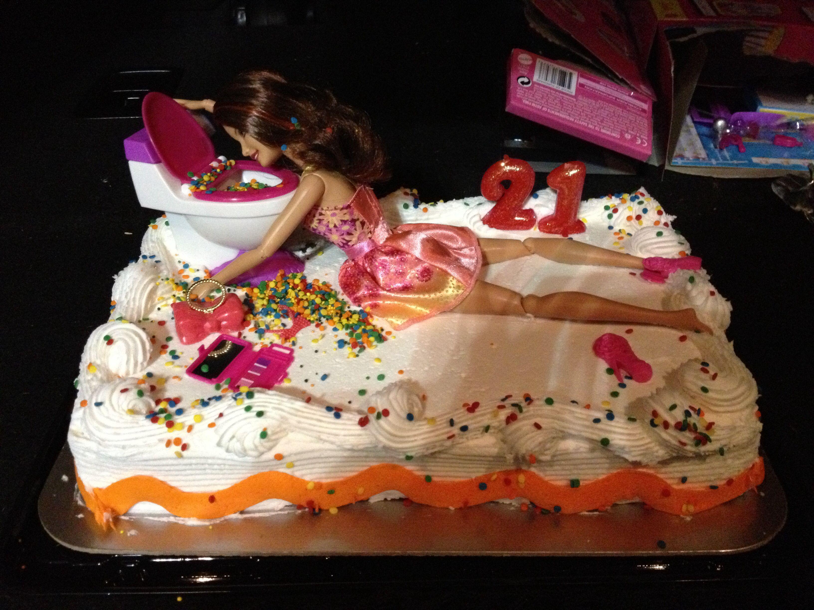 37++ 21st birthday barbie toilet cake inspirations