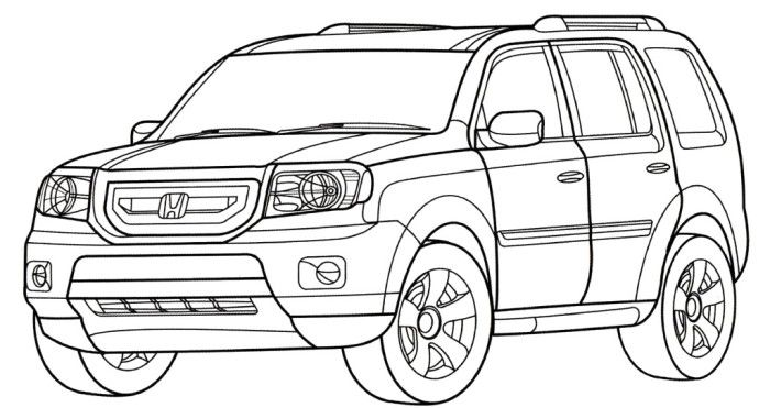 Honda Pilot Coloring Page Truck Coloring Pages Honda Ridgeline