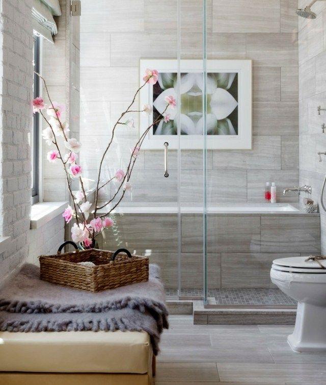 Steinfliesen Badezimmer Gestalten Ideen Bilder