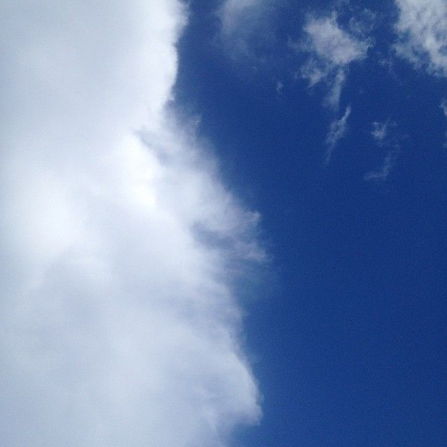 A blanket of cloud is moving in. #sky #cloud #blue #white #movement #art #nature #peace