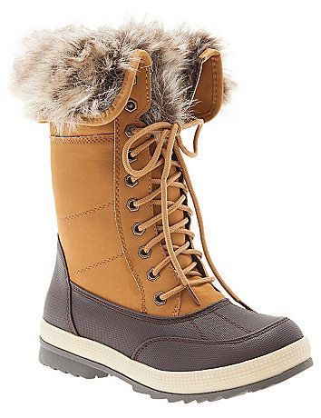 4ab581d48b3 Arm yourself against the chill in faux fur-lined Winter boots made ...