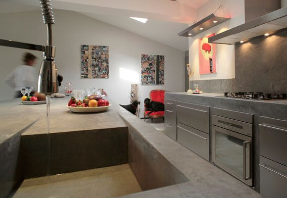 Encimera y fregadero de cemento pulido decor ideas pinterest cemento pulido fregaderos y - Cocina cemento pulido ...