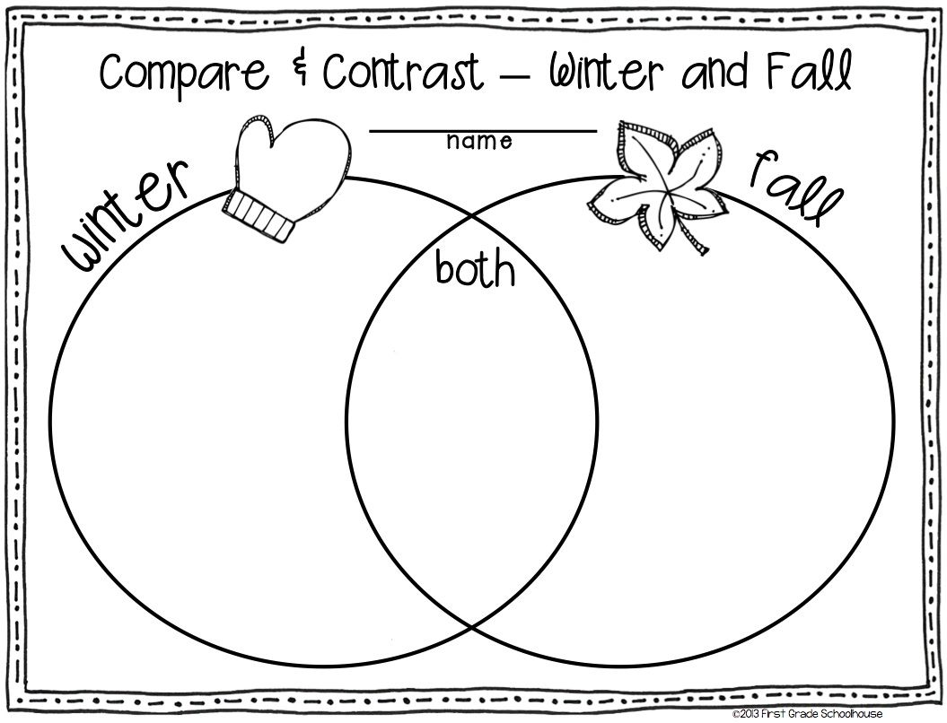 Worksheets Compare And Contrast Worksheets 2nd Grade winter writing for second grade season activities and grade