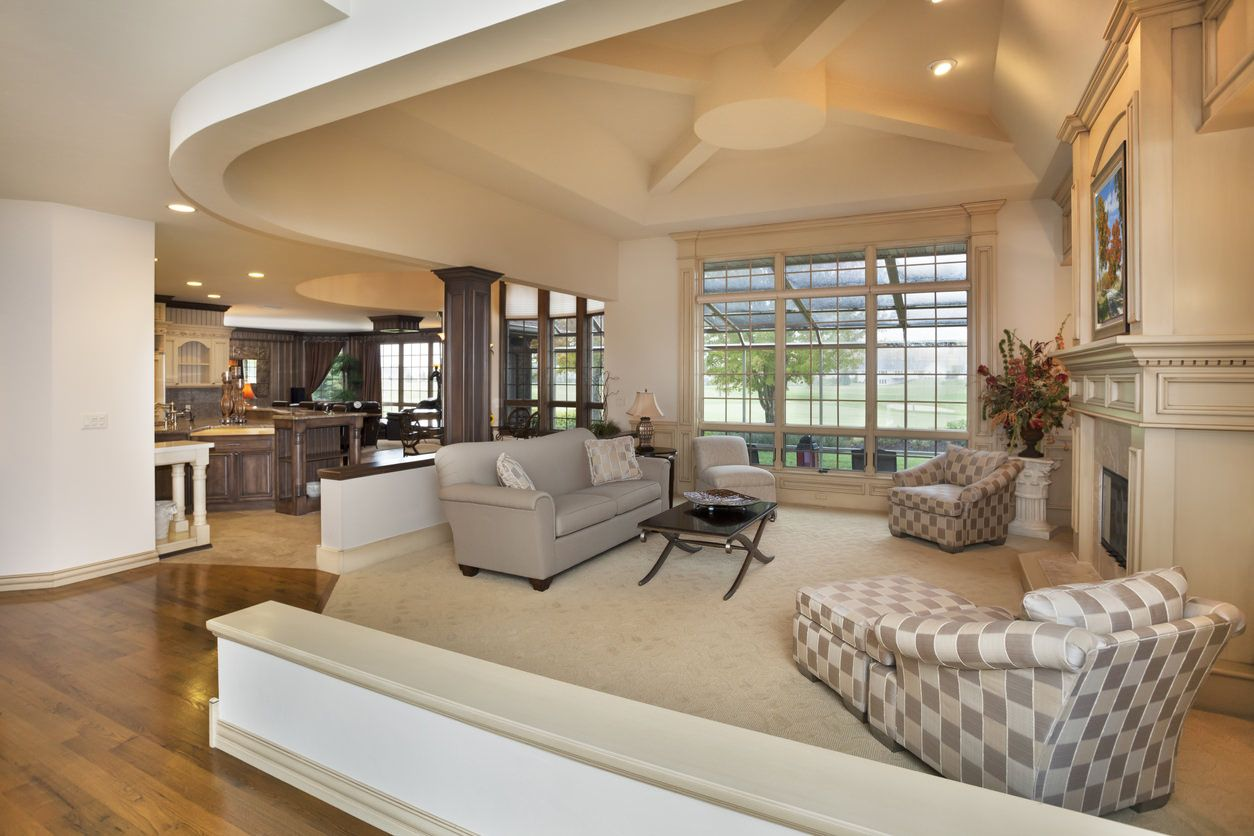 47 Open Concept Kitchen, Living Room and Dining Room Floor ...