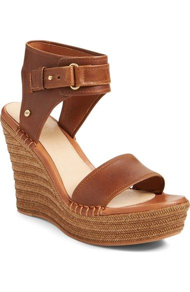 UGG® 'Maryanne' Wedge Sandal (Women) available at #Nordstrom