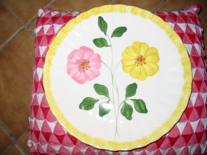 Blue Ridge Pottery Wrinkled Rose? Dinner Plate Marked Large Size