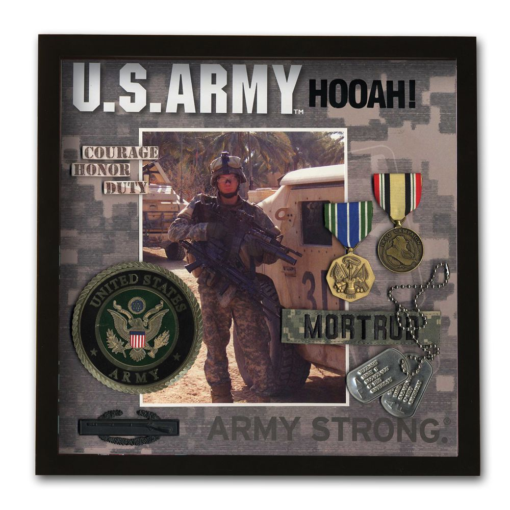 Army Shadowbox Frame -- pic of Danny in boys room? Just need shadow ...