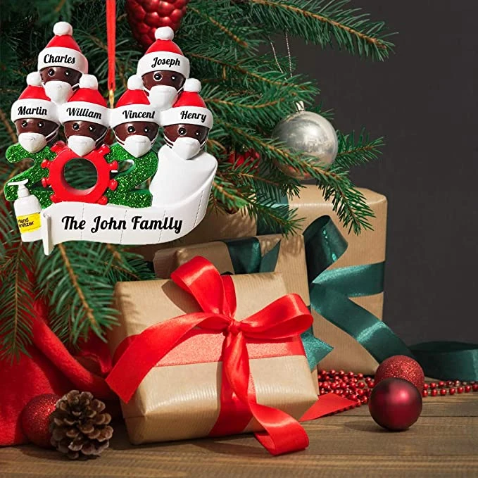 Personalized Name Christmas Ornament Kit Custom 2020 Christmas Name Decorating Kit 6 People In 2020 Name Christmas Ornaments Christmas Ornaments Ornament Kit