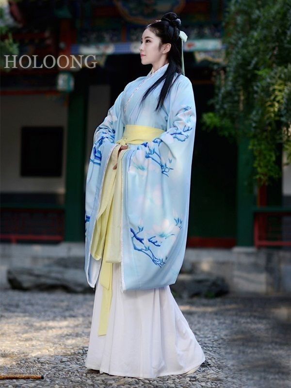 Quju Curving-front robe Two-piece set Skirt Women Hanfu Chinese Robe ...