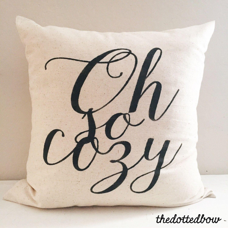 Oh so cozy modern Farmhouse Christmas Pillow https//www