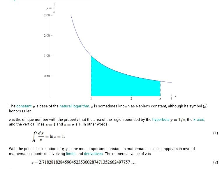 What Is E Mathamatics Calculus Pinterest Math Calculus And