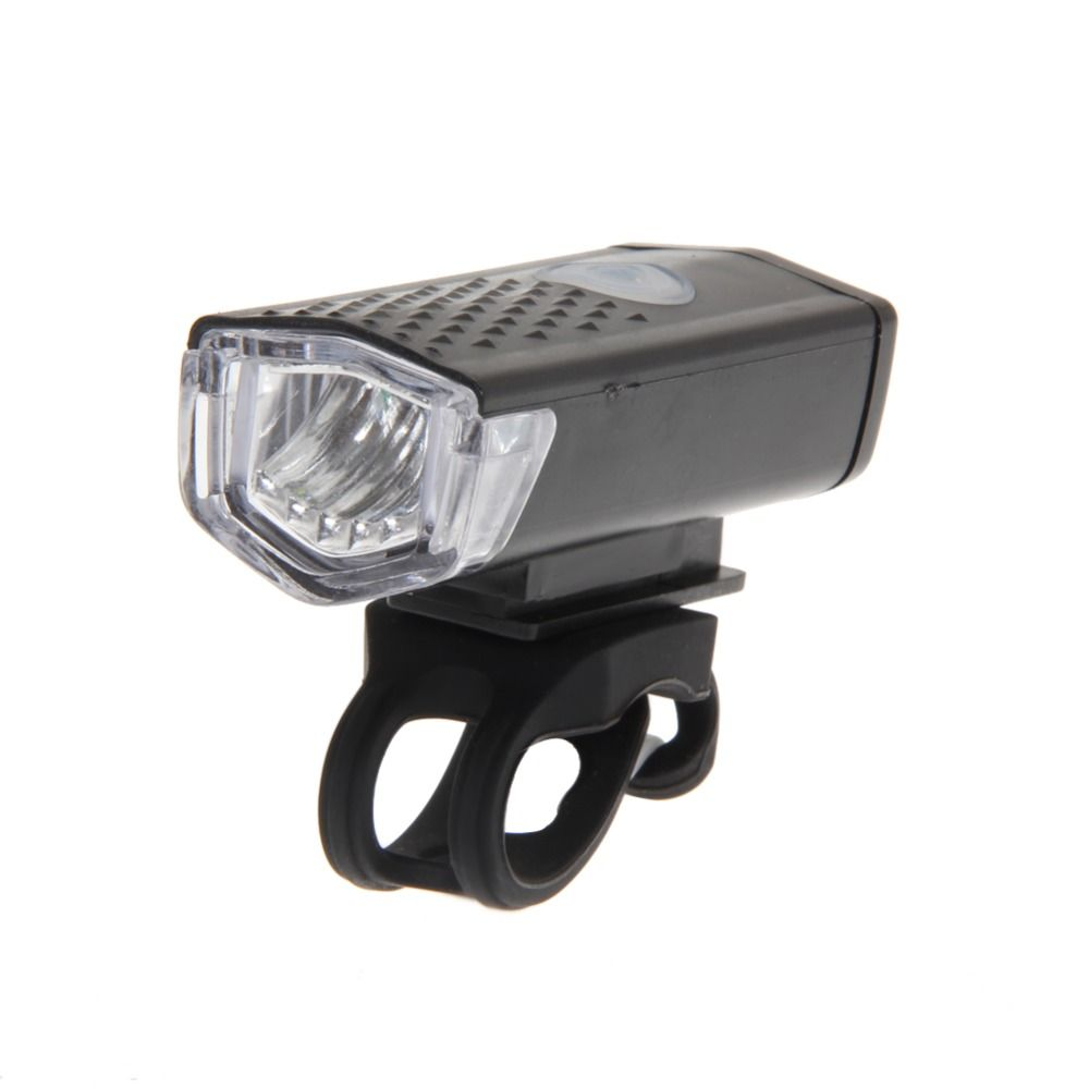 300LM USB Rechargeable Sport Bike Front Light Cycling Bicycle LED Lamp+Battery