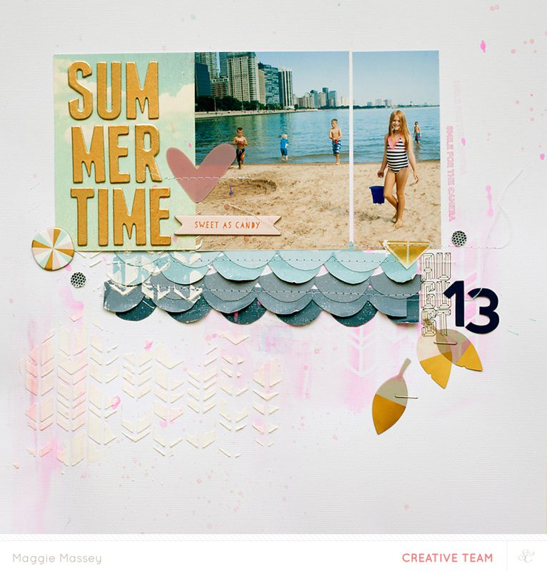 #papercraft #scrapbook #layout.  Summertime - NSD Color Challenge @Studio_Calico