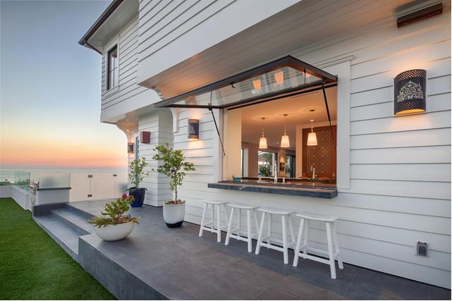 Awning Window At Counter Beachfront Decor Patio Design Outdoor Kitchen Design