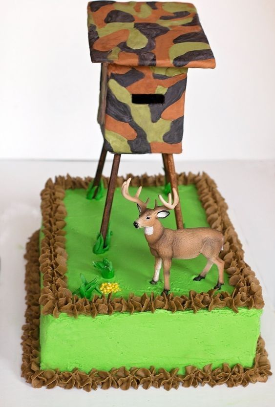 Fine Deer Hunting Cake With Images Hunting Birthday Cakes Deer Personalised Birthday Cards Veneteletsinfo