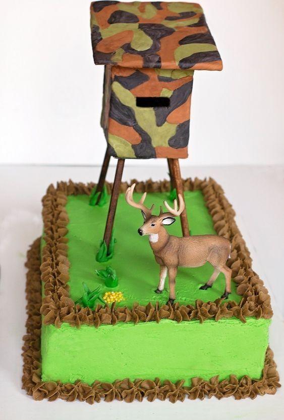 Marvelous Deer Hunting Cake With Images Hunting Birthday Cakes Deer Funny Birthday Cards Online Elaedamsfinfo