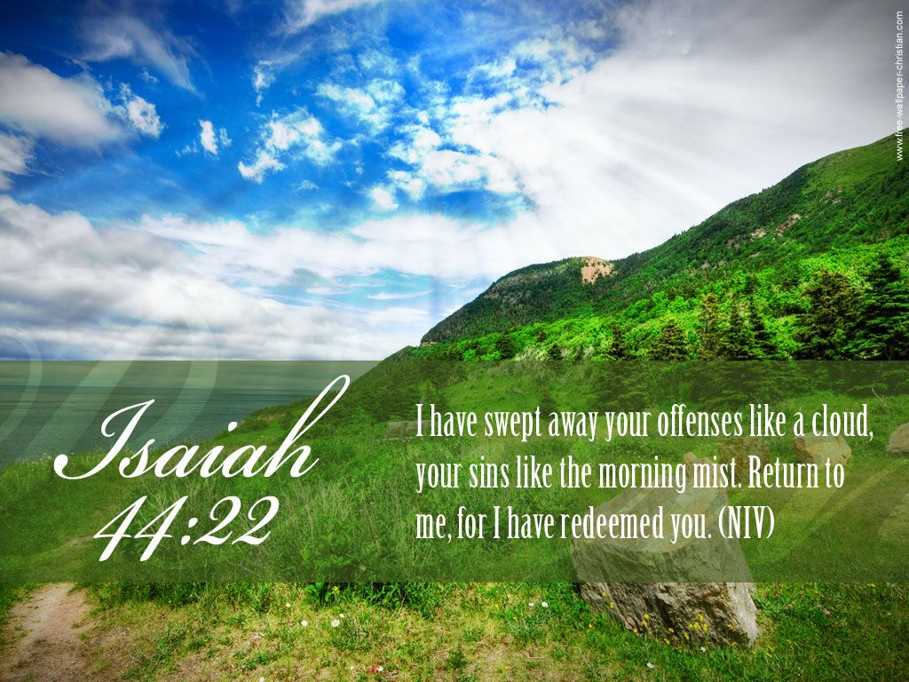 Verse Isaiah 4422 Beautiful Nature Background Papel De Parede Imagem