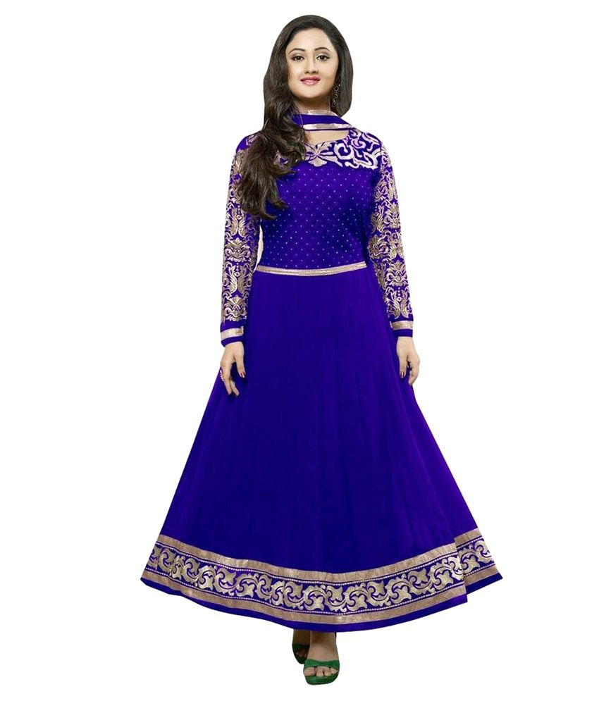 9f56c96493 #Stutti Fashion Blue Color #Georgette Semi Stitched Dress Material Rs.749  Only