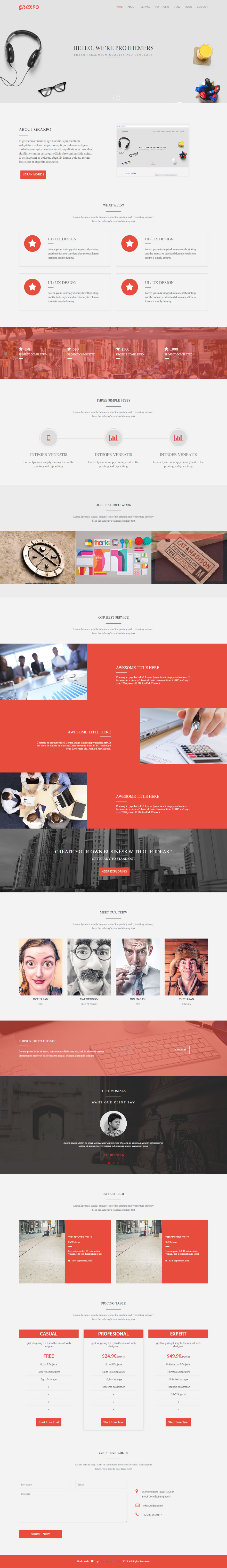 We have created Free Html one page portfolio website. You can ...