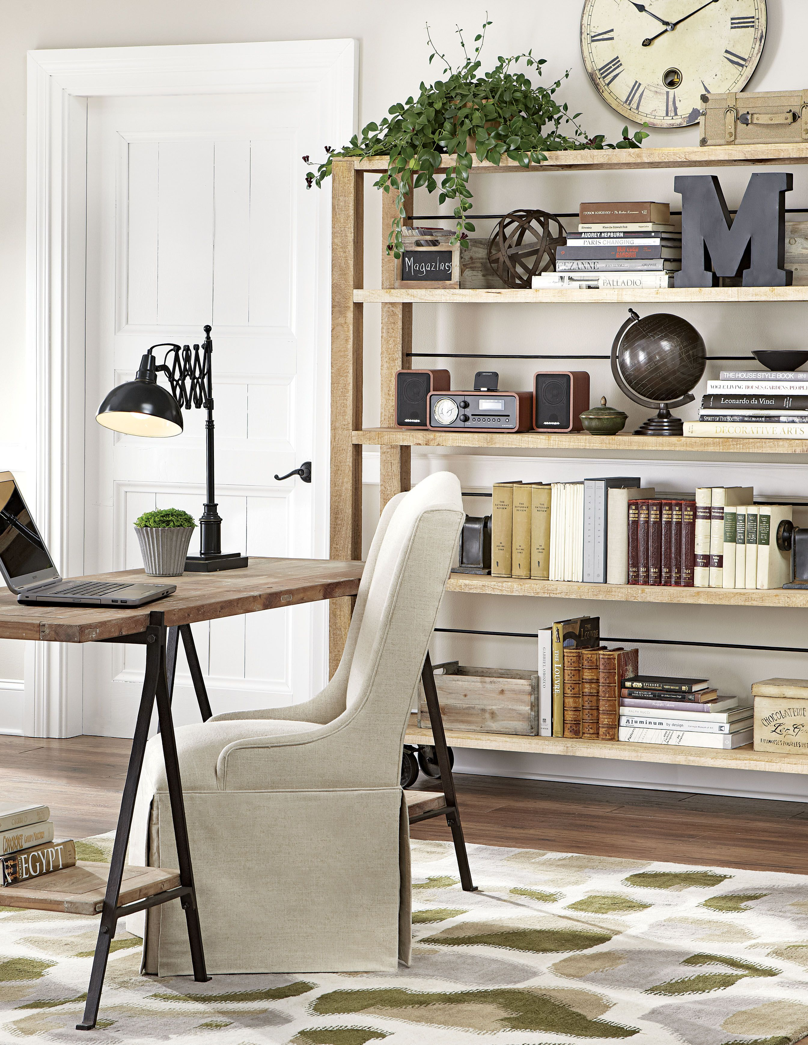 Open Up Your Home Office With An Open Bookcase And Desk. Plus, Set The ·  Industrial OfficeIndustrial StyleOpen ... Design Ideas
