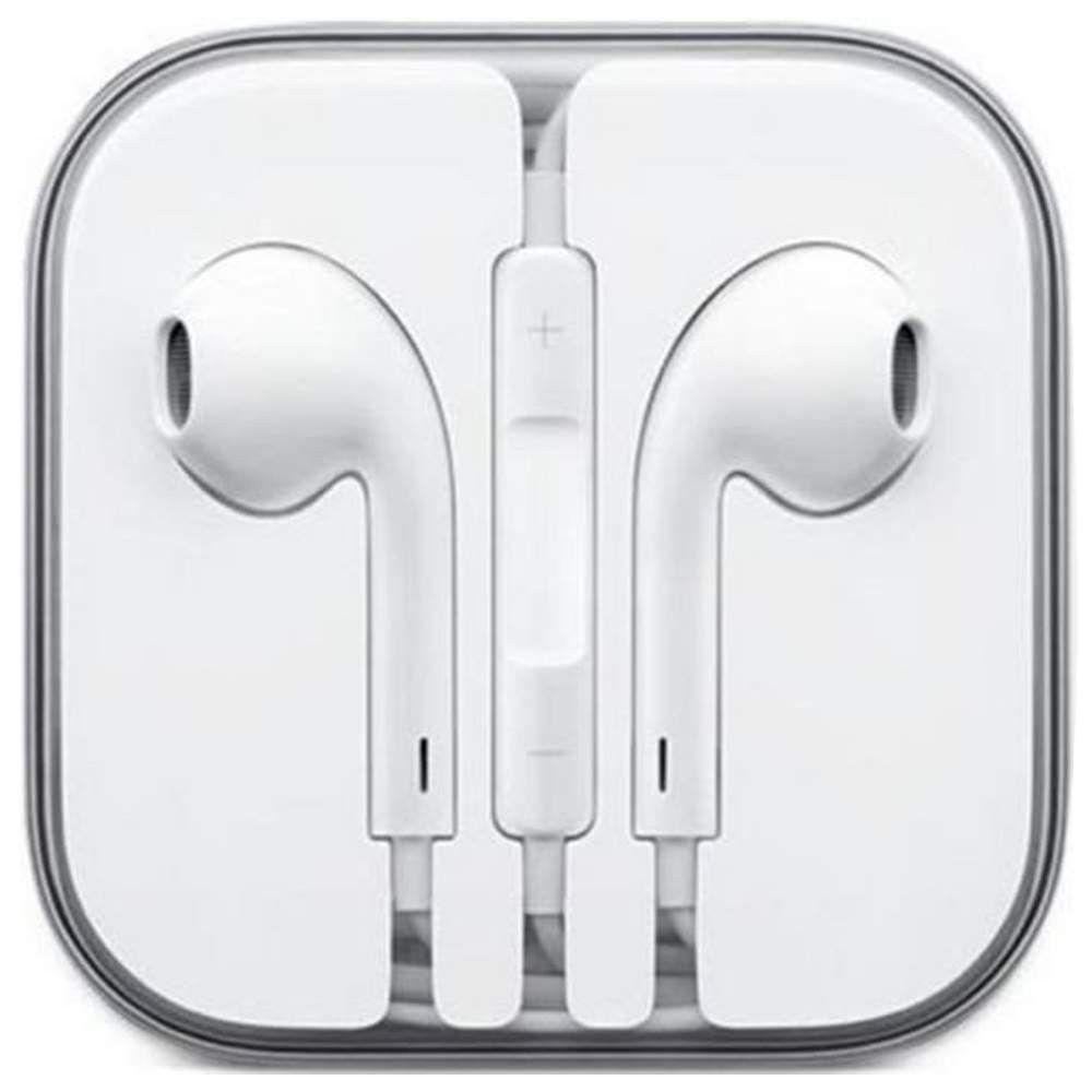 White In Ear Headphones With Volume Control Mic Fun Cases Apple Headphone Apple Earphones Iphone Earbuds
