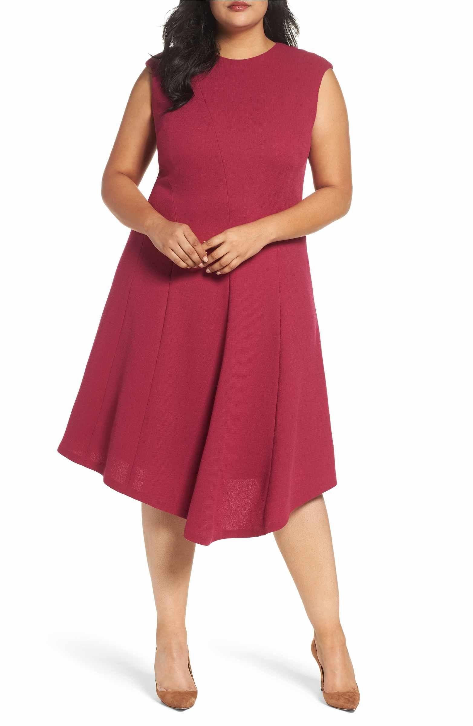 62eb1ac1c3f Main Image - Lafayette 148 New York Aveena Wool Interlock Dress (Plus Size)  Nordstrom
