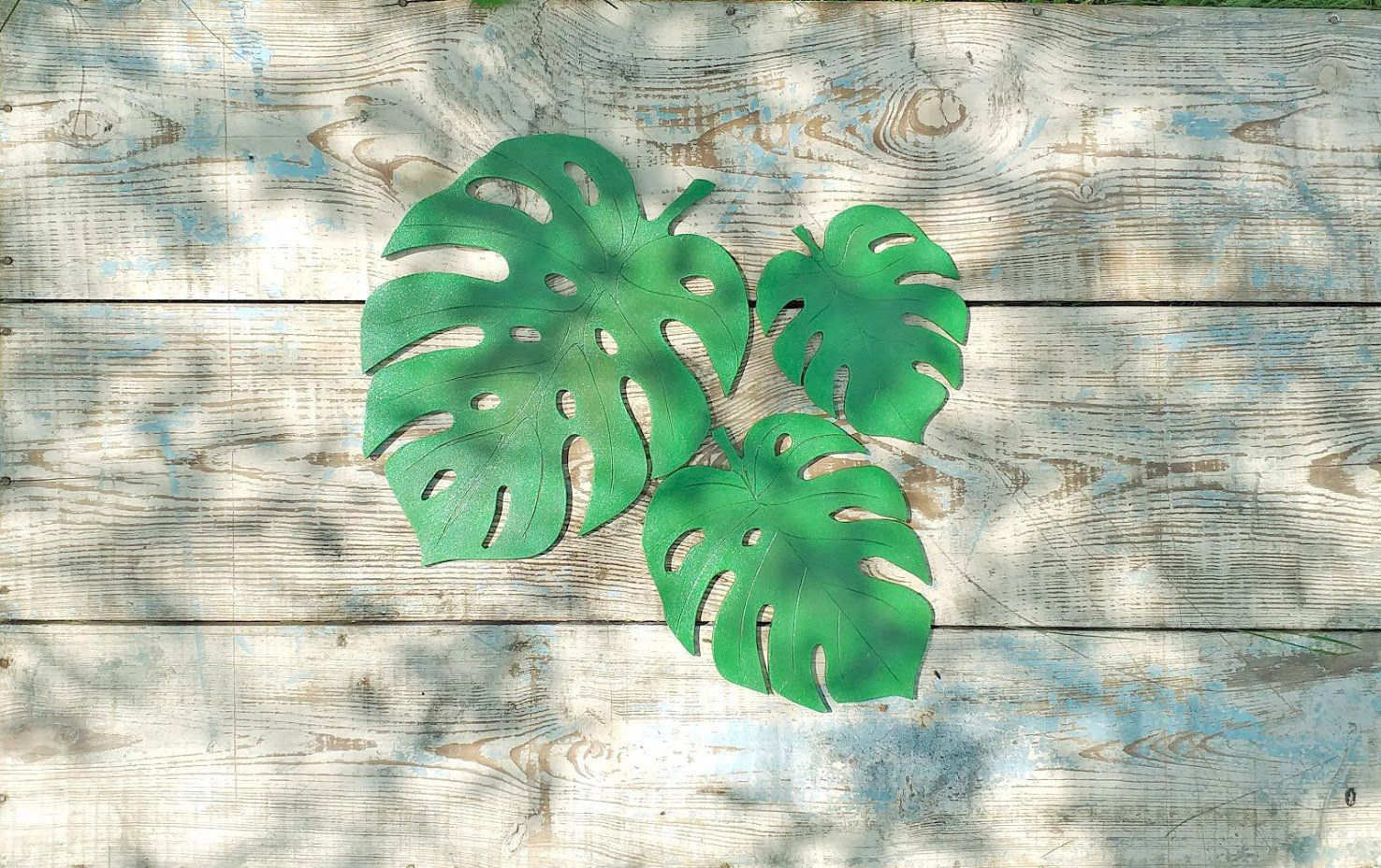 Monstera Leaf Handmade From Wood Tropical Leaf Wall Hanging