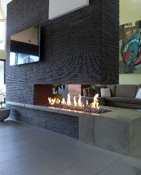 Spark Modern Fires - fantastic 3 sided fireplace | Linear ...