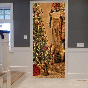 Christmas Tree Sock Pattern Door Stickers in 2018 Murals Door