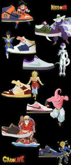 Dragon ball z inspired Nikes. These shoes have a power level way over 9000.