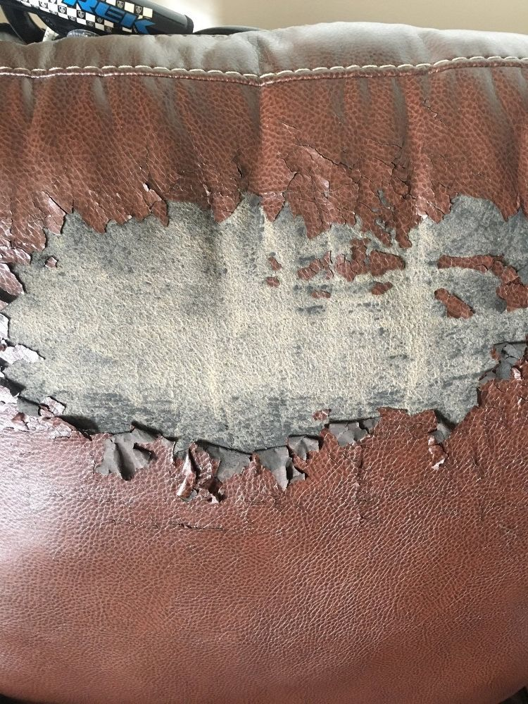 Peeling Faux Leather Chair In 2019 Faux Leather Couch