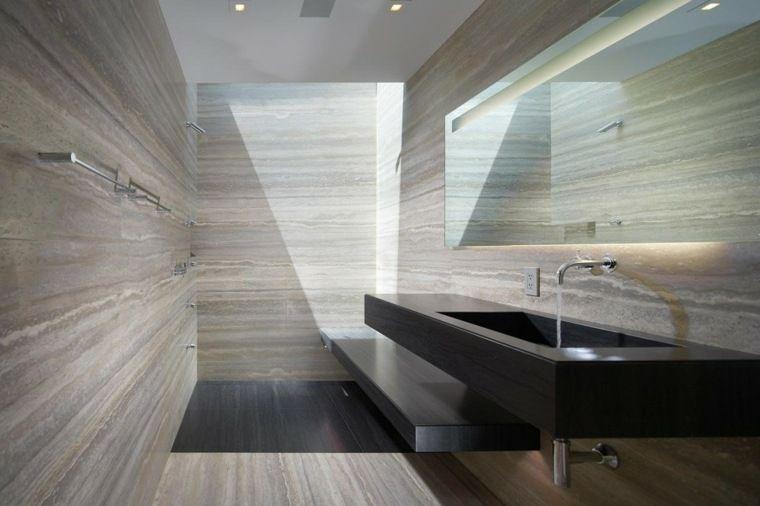 Salle de bain marbre  50 exemples d\u0027aménagement Ceilings and Walls