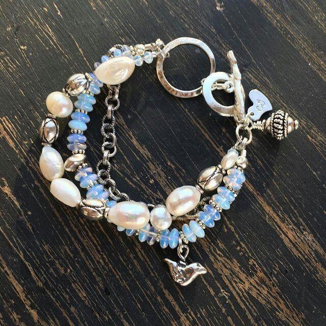 #Repost @cowgirlsjewelry  #moonstone #silverbird #hilltribesilver #freshwaterpearls #sterlingsilver rusticjewelry.net