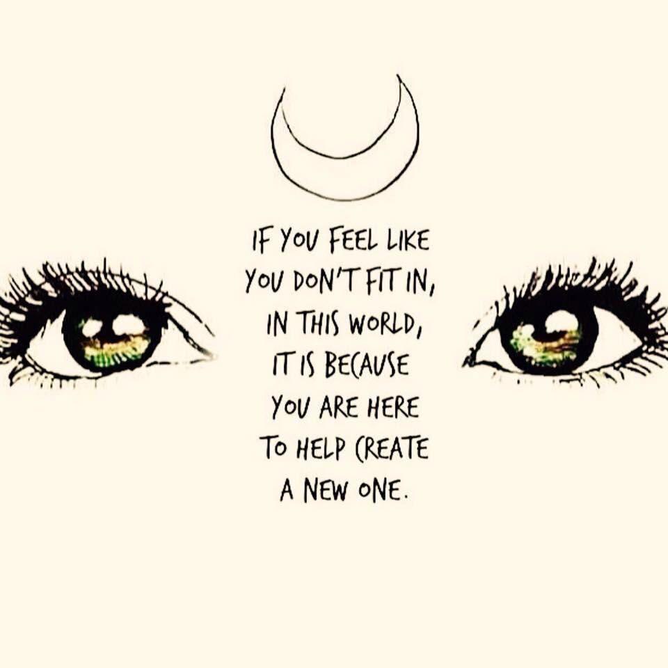 [Image] If you feel like you don't belong..