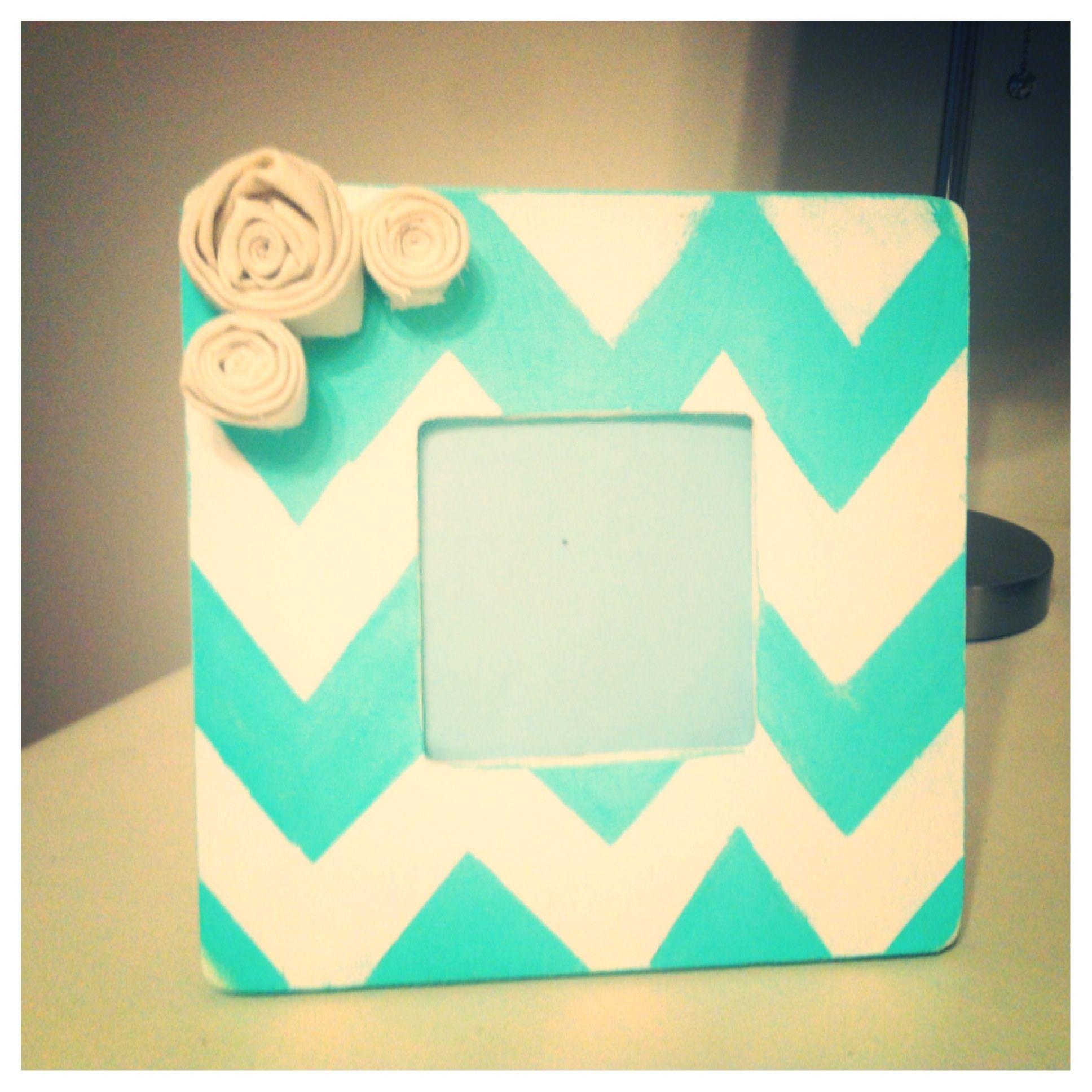 Tiffany blue chevron frame. | My Pinterest Projects | Pinterest ...