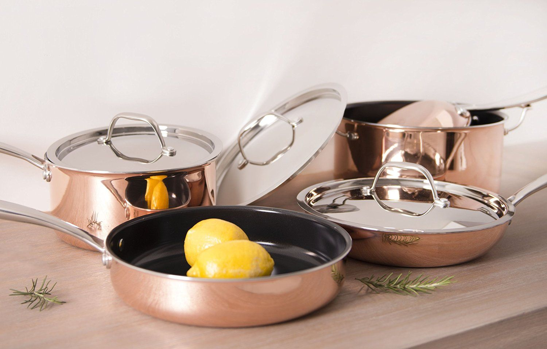Amazon.com: CeraStone Titanium CTT0114 8 Piece Triply with Titanium Cookware…