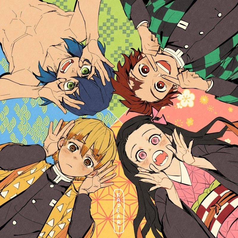 Nezuko Tanjiro Inosuke and the name Anime, Quỷ và